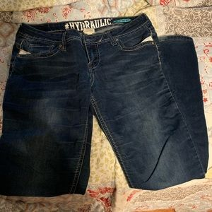 Hydraulic low rise jeans